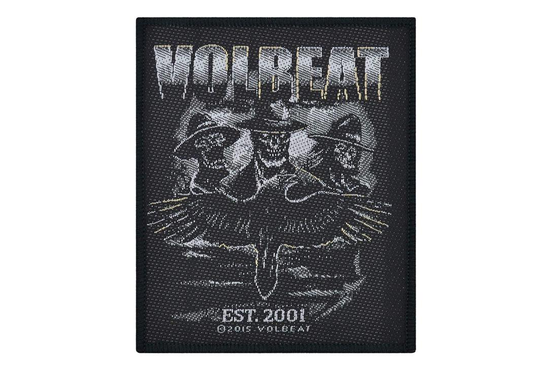 Official Band Merch | Volbeat - Outlaw Raven Woven Patch