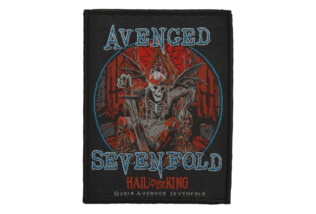 Official Band Merch | Avenged Sevenfold - Hail To The King Skeleton Woven Patch