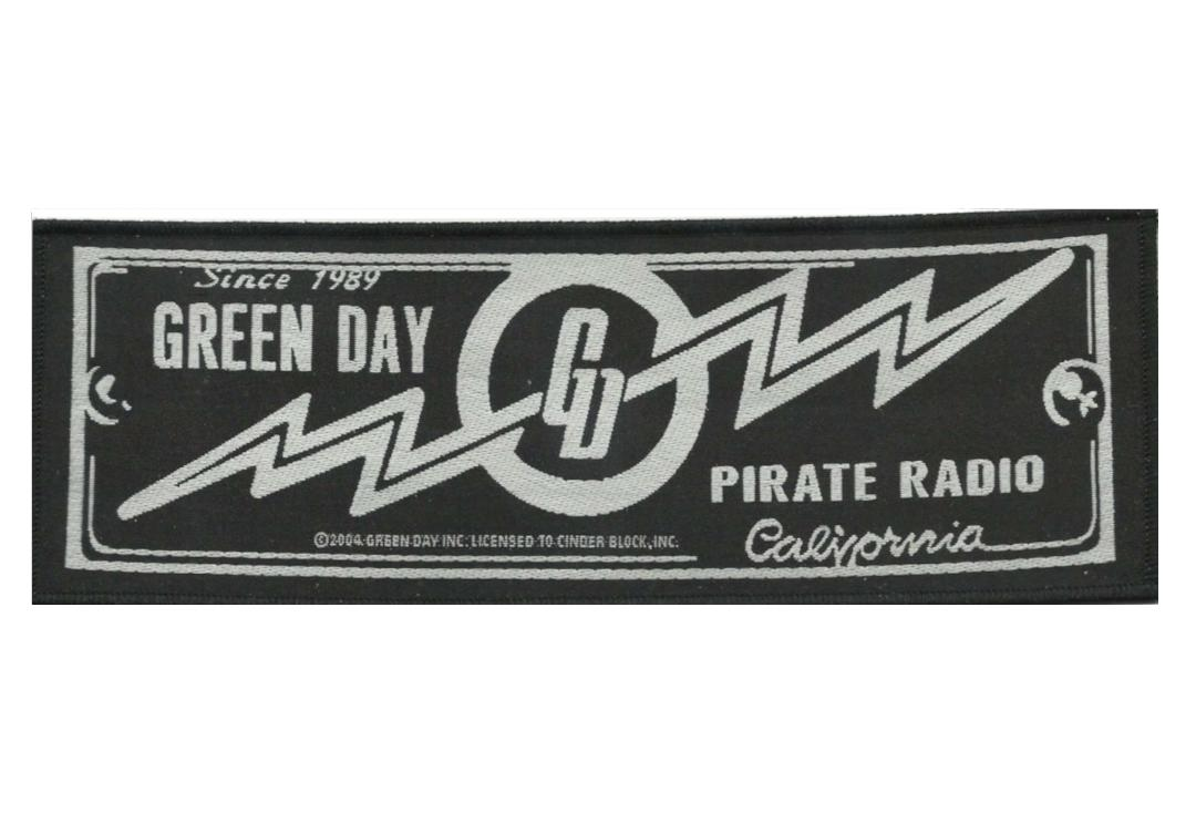 Official Band Merch | Green Day - Pirate Radio Woven Patch