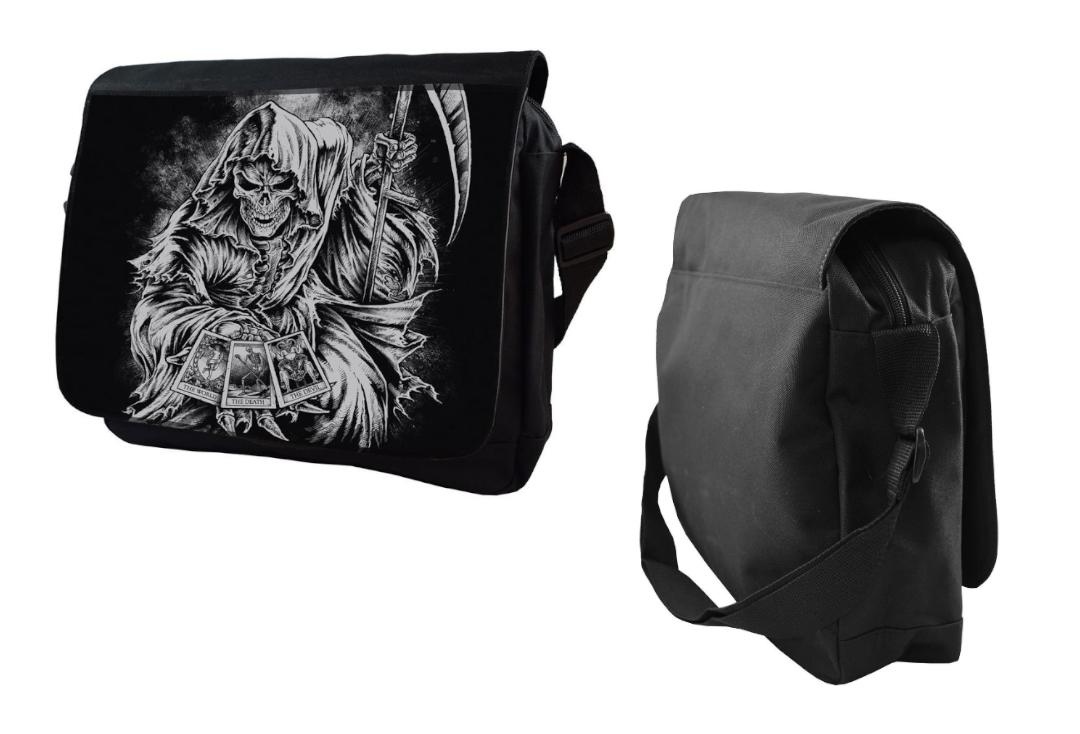 Darkside Clothing | Tarot Reaper Darkside Messenger Bag - Front & Side