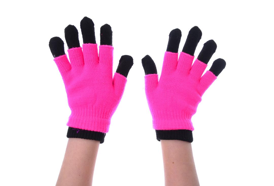 Poizen Industries | Pink & Black Double Gloves