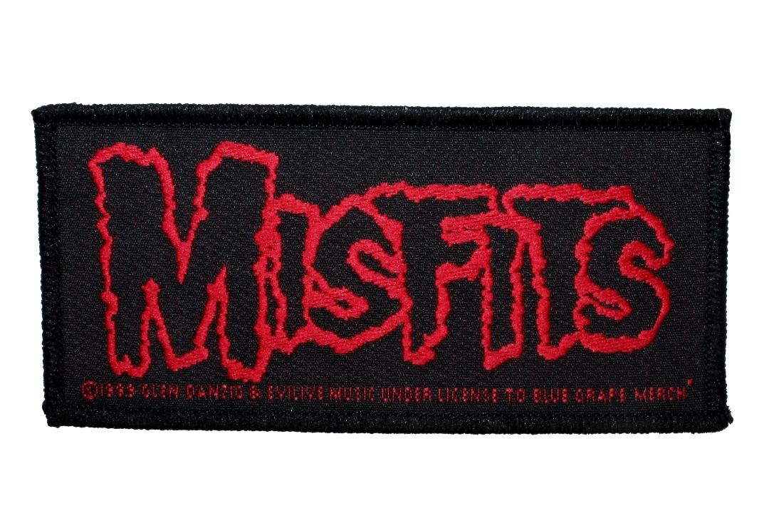 Official Band Merch | Misfits - Red Logo Woven Patch