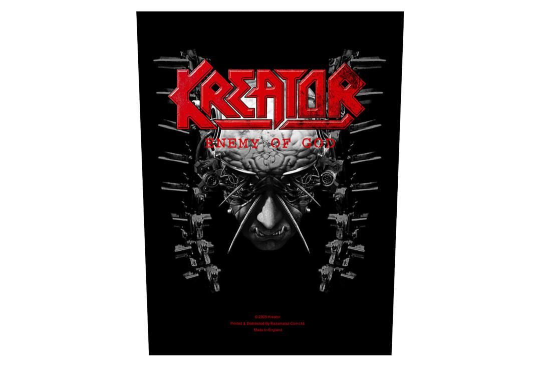Official Band Merch | Kreator - Enemy Of God Printed Back Patch