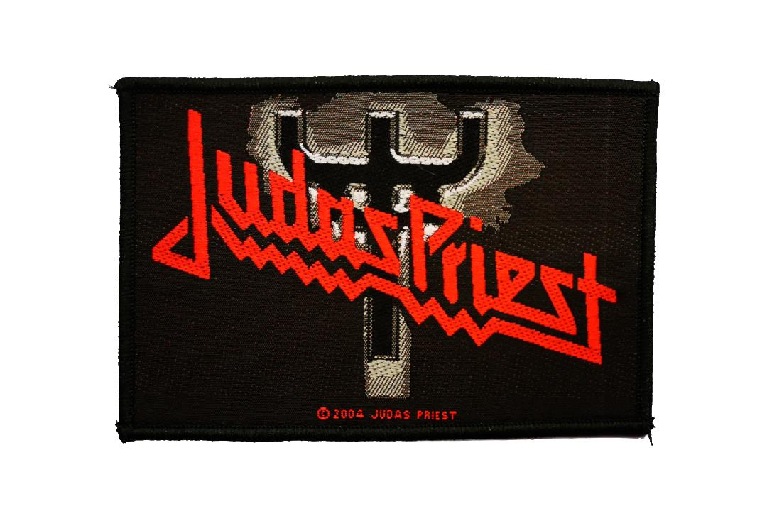 Official Band Merch | Judas Priest - Fork Logo Woven Patch