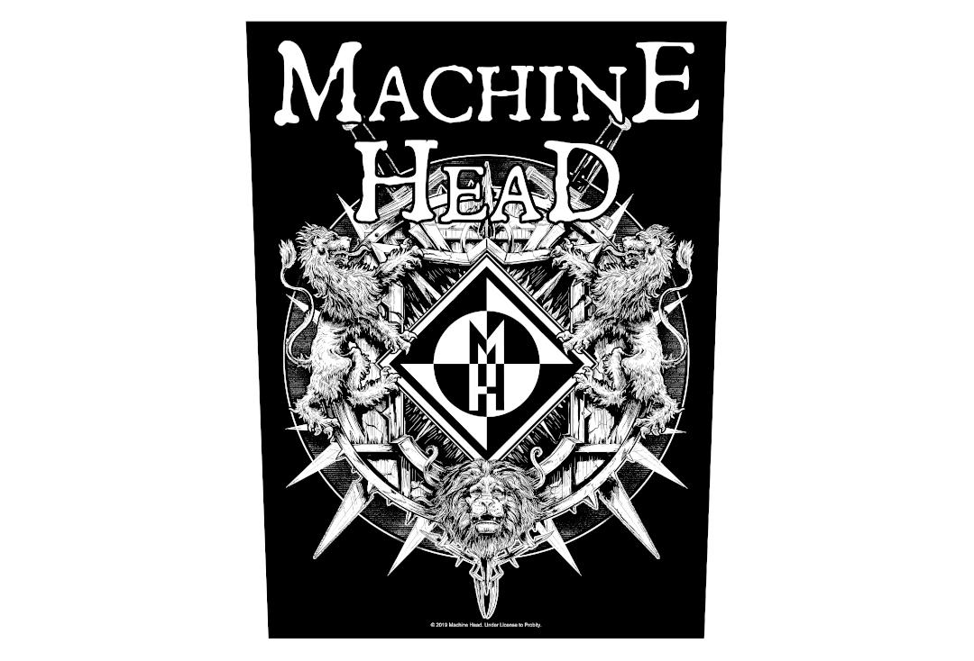 Official Band Merch | Machine Head - Crest Large Printed Back Patch