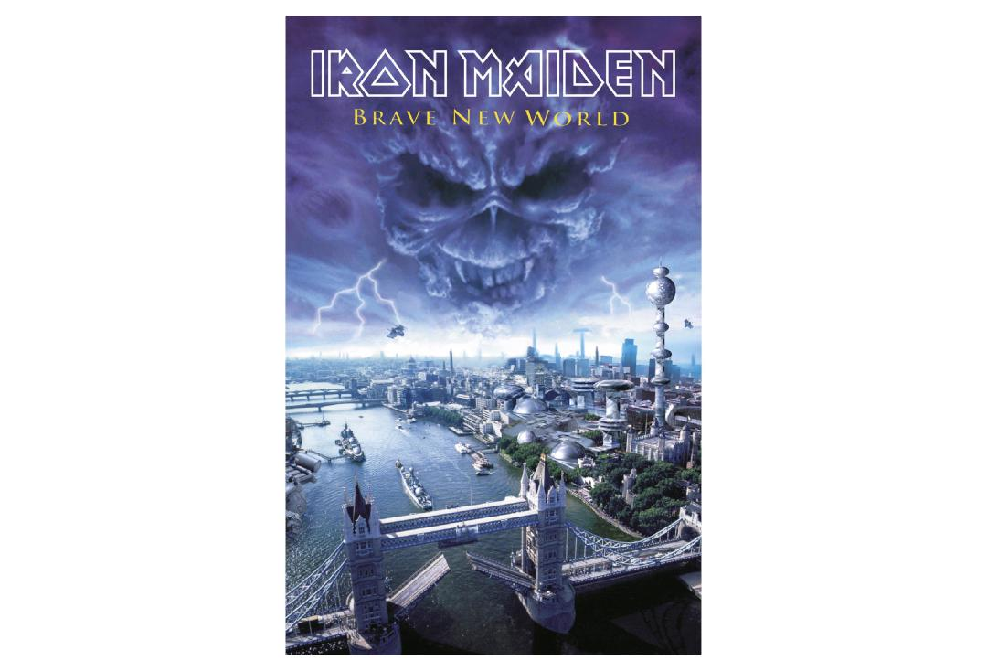 Official Band Merch | Iron Maiden - Brave New World Printed Textile Poster