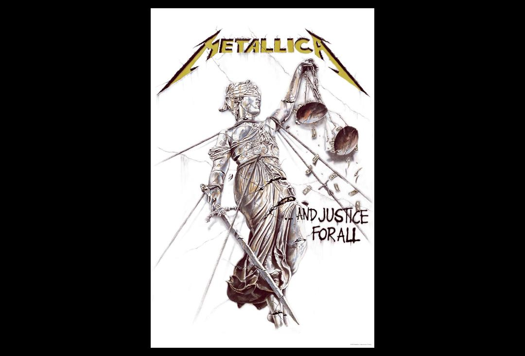 Official Band Merch | Metallica - And Justice For All Printed Textile Poster