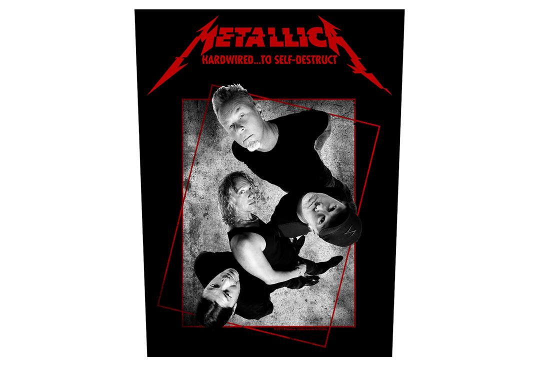 Official Band Merch | Metallica - Hardwired Concrete Printed Back Patch