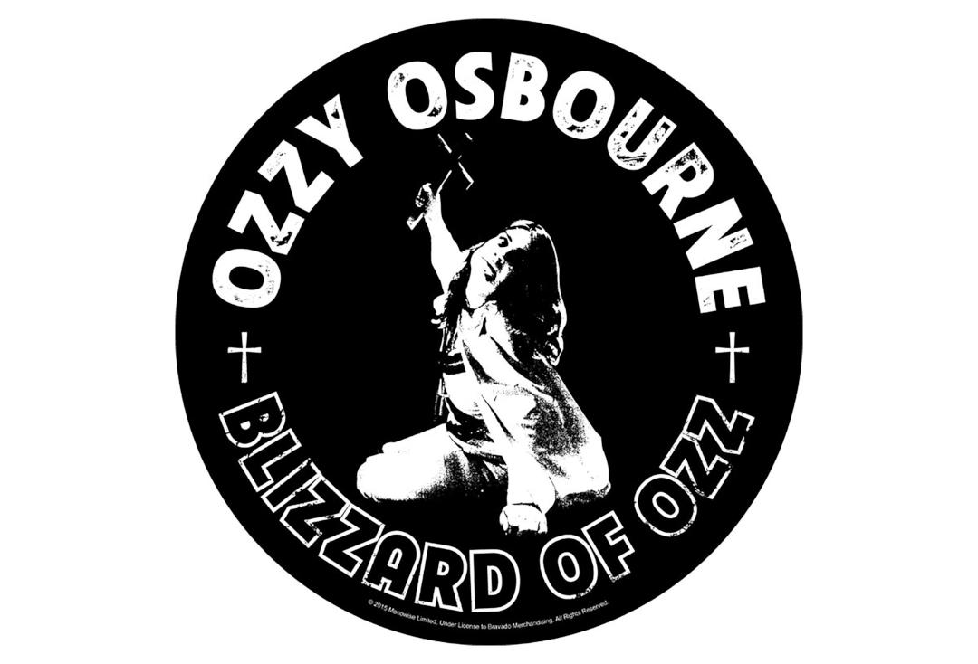 Official Band Merch | Ozzy Osbourne - Blizzard Of Ozz Printed Back Patch