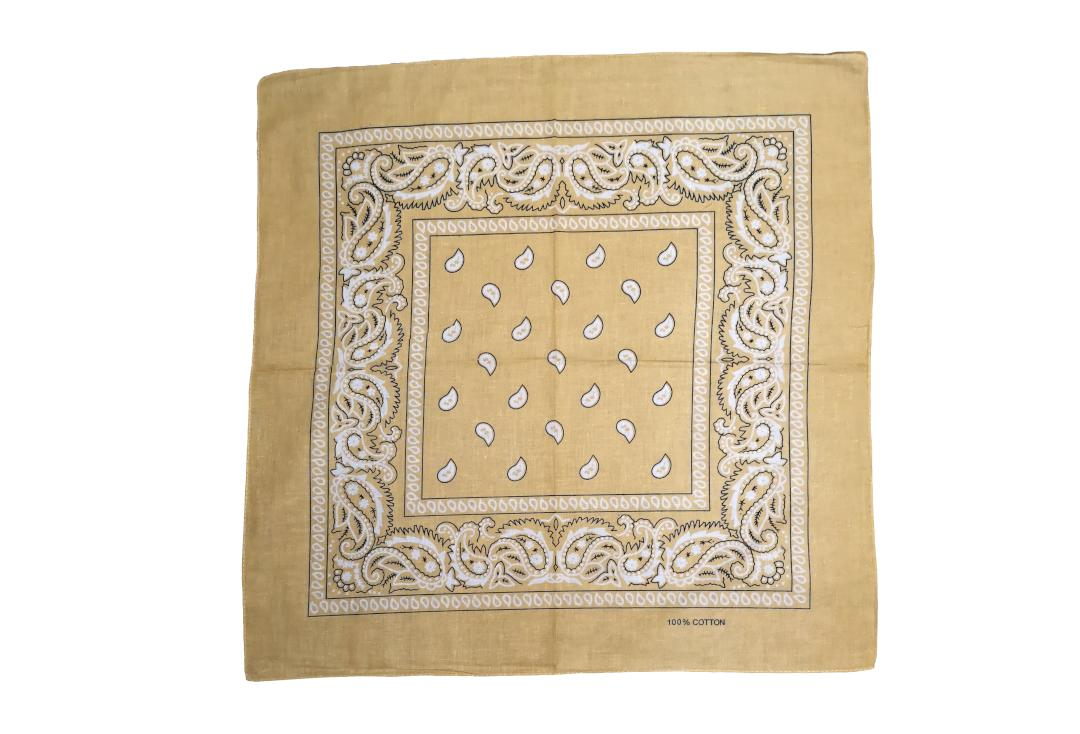 Void Clothing | Beige Paisley Cotton Bandana