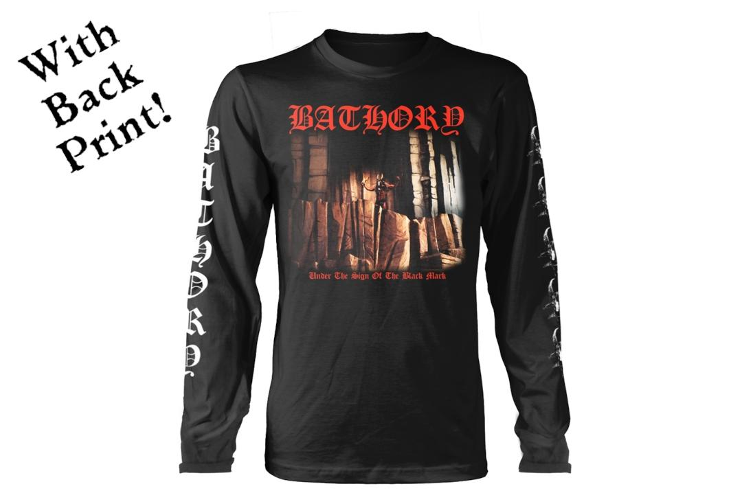 Official Band Merch | Bathory - Under The Sign Men's Official Long Sleeve T-Shirt - Front