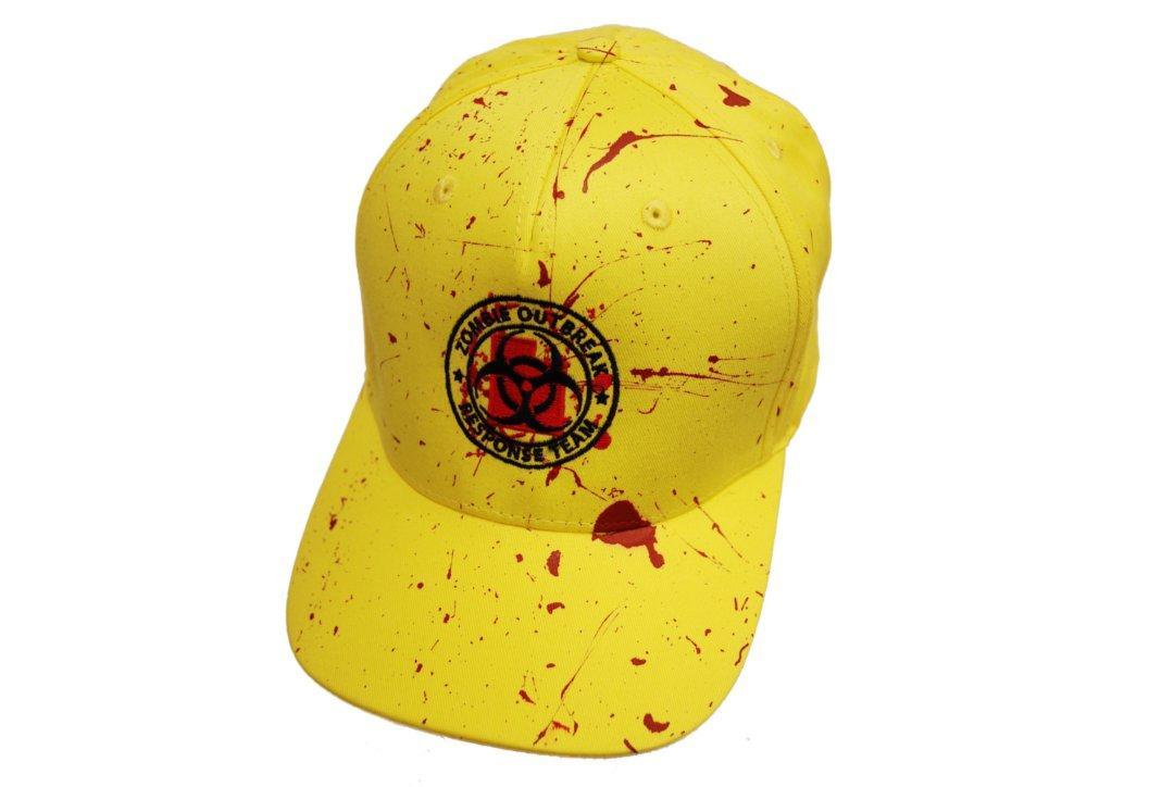 Darkside | Yellow Zombie Response Splatter Baseball Cap