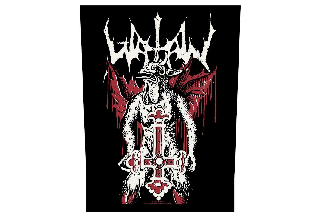 Official Band Merch | Watain - Inverted Cross Printed Back Patch