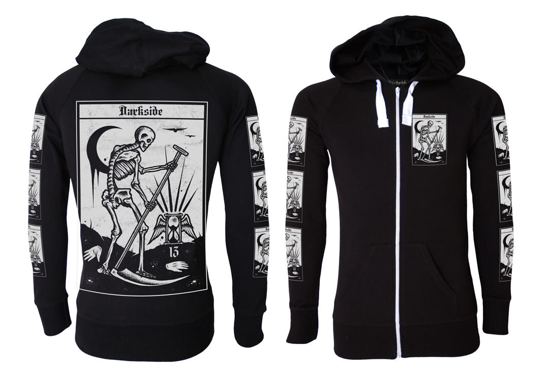 Darkside | Death Tarot Lightweight Cotton Unisex Zip Hood