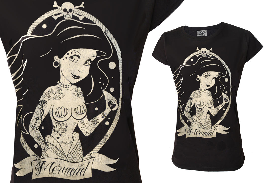 Darkside | Mermaid Girl's Skinny Fit T-Shirt