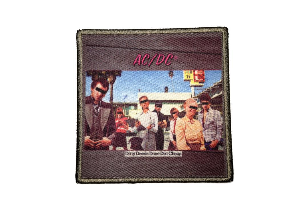 Official Band Merch | AC/DC - Dirty Deeds Done Cheap Album Cover Woven Patch