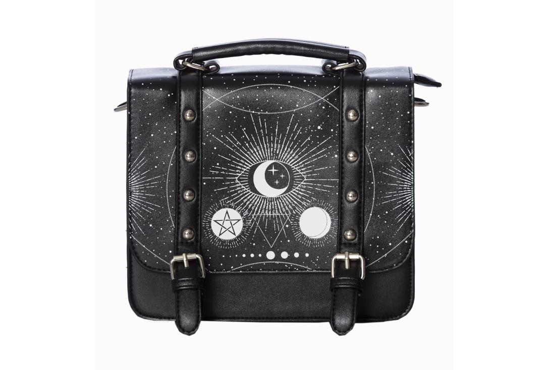 Banned Apparel | Cosmic Small Satchel Shoulder Bag - Front Close