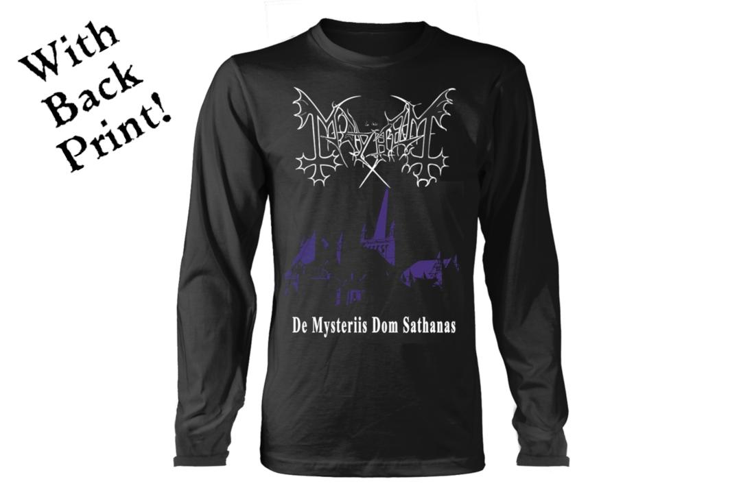 Official Band Merch | Mayhem - De Mysteriis Dom Sathanas Men's Official Long Sleeve T-Shirt - Front