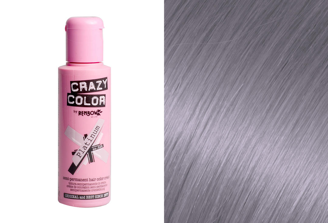Renbow | Crazy Color Semi-Permanent Hair Colour (028 Platinum)