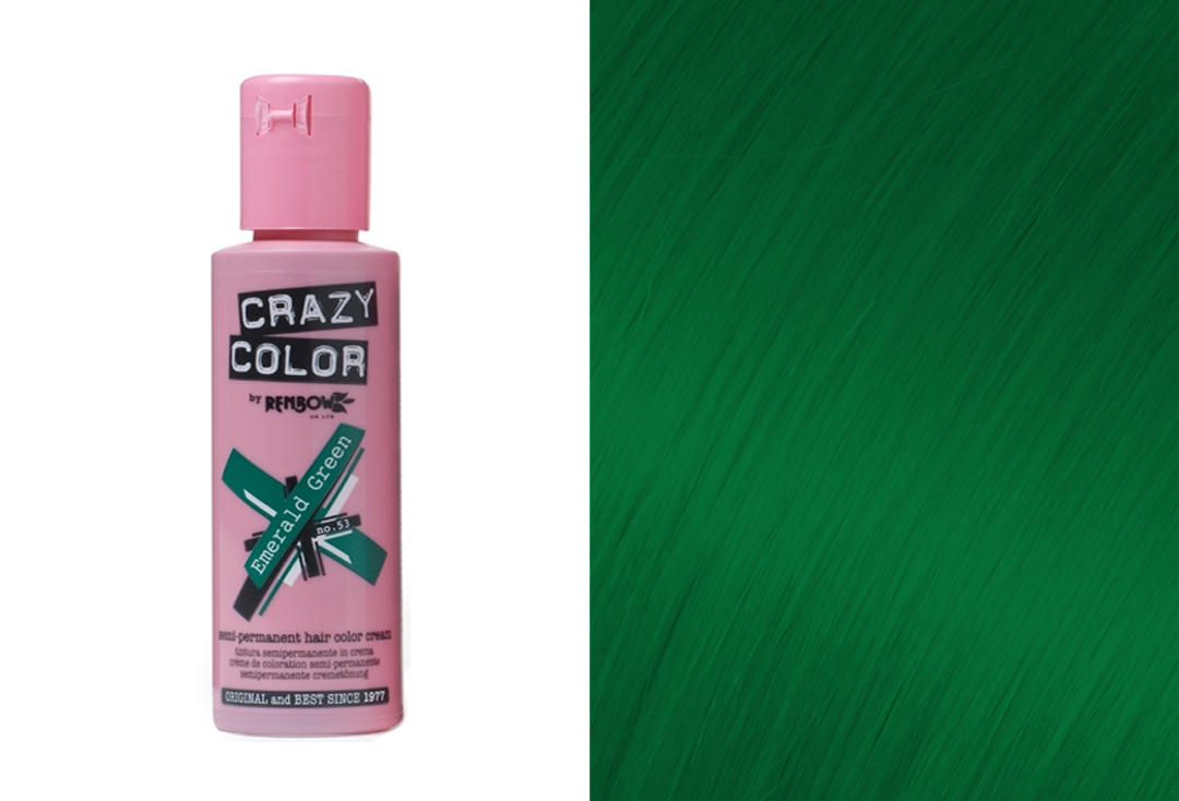 Renbow | Crazy Color Semi-Permanent Hair Colour (053 Emerald)