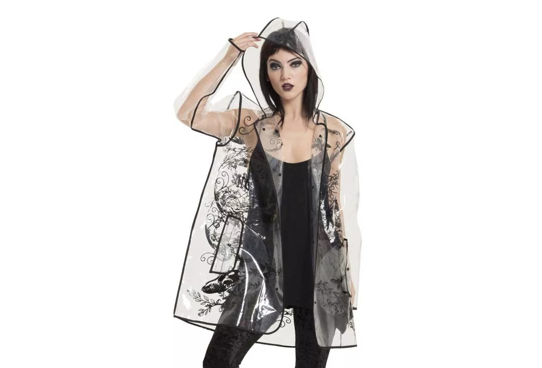 Jawbreaker | Necromancer Transparent Raincoat - Front Hood Up