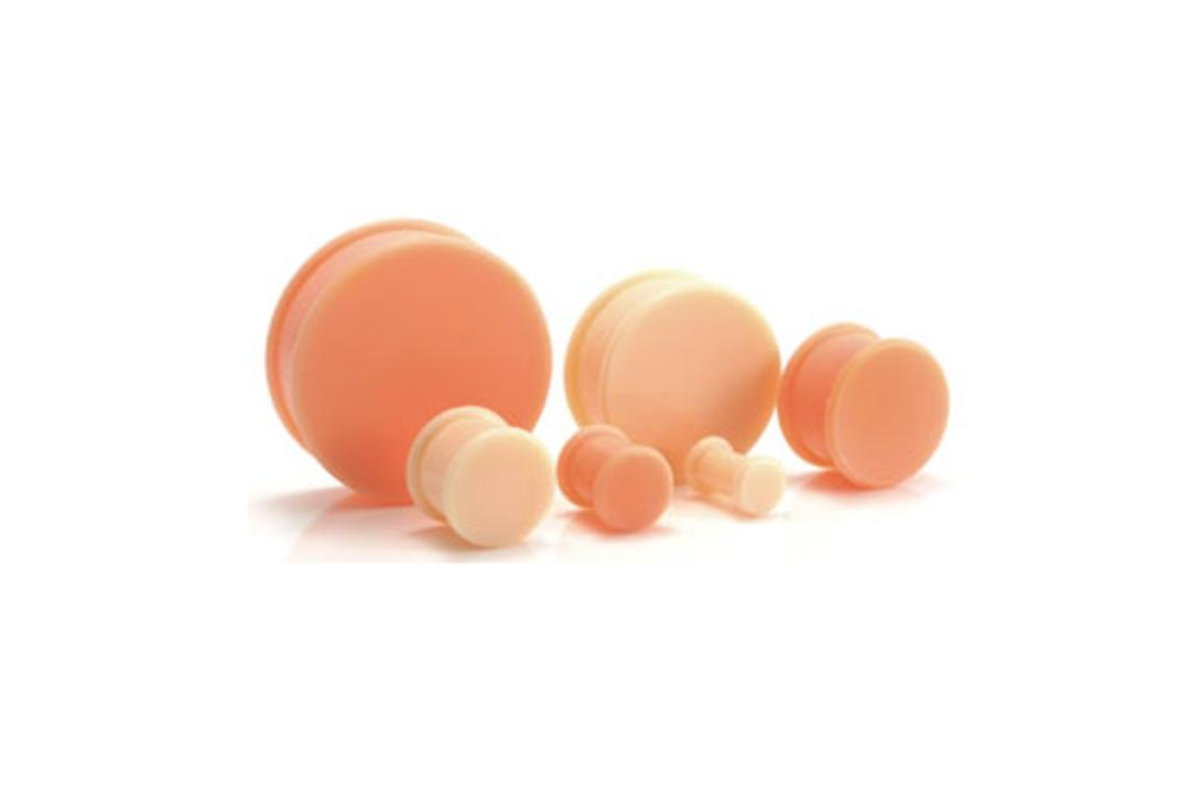 Void Clothing | Flesh Coloured Silicone Tone Hider Plug 4mm to 30mm
