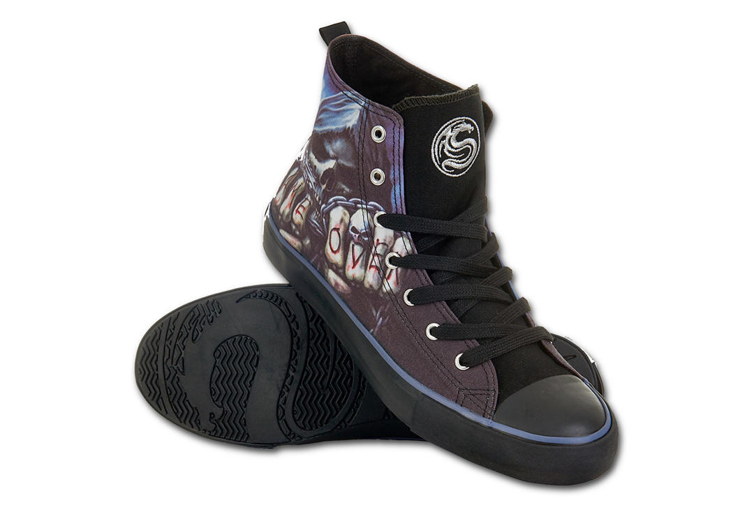 Spiral Direct | Game Over Men's Lace Up High Top Sneakers