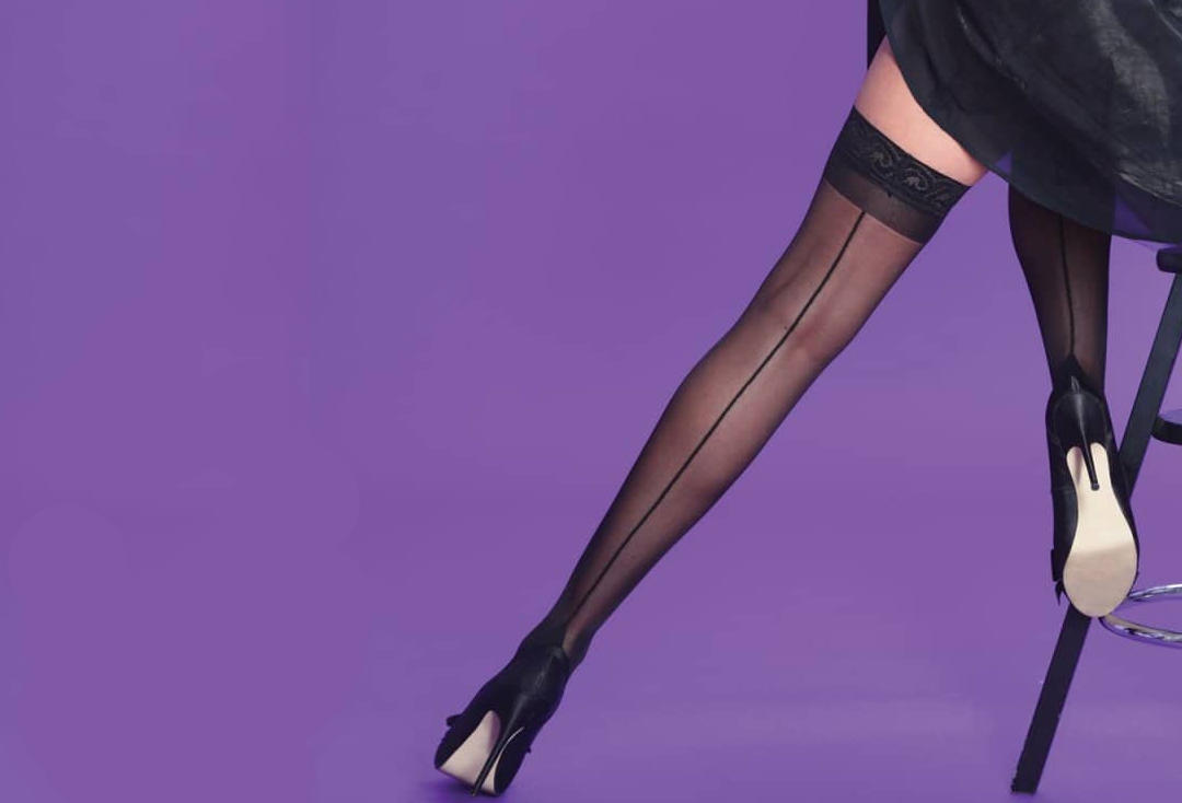 Silky | Seamers Black Hold Up Stockings
