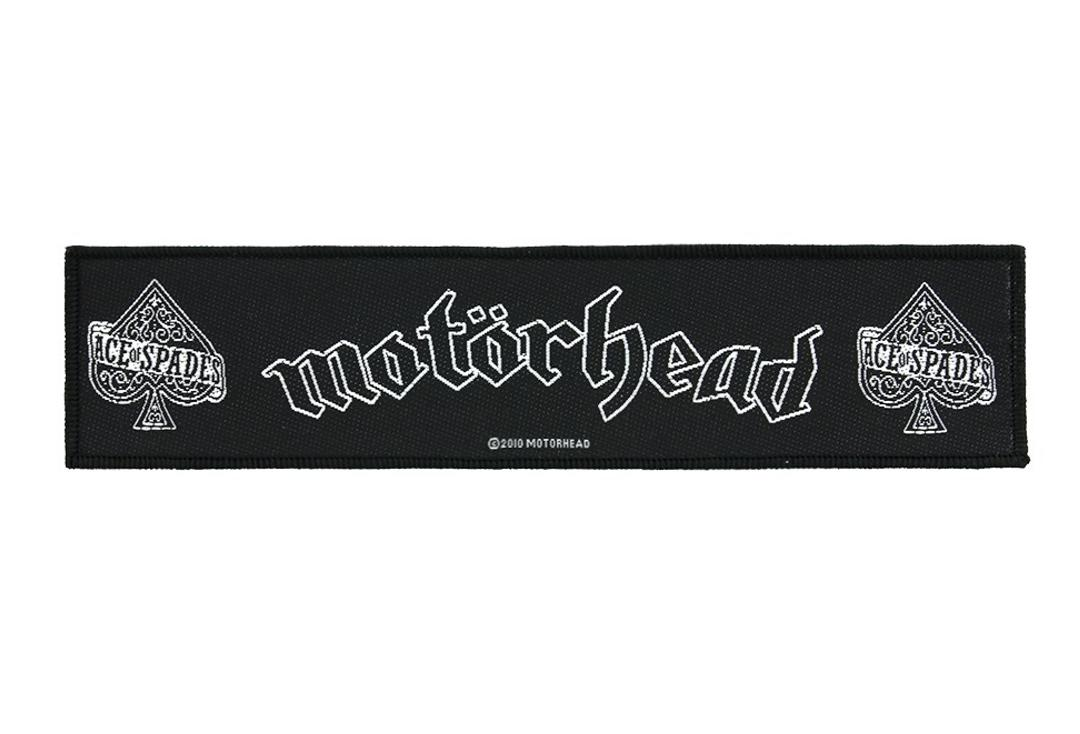 Official Band Merch | Motorhead - Ace Of Spades Woven Super Strip Patch