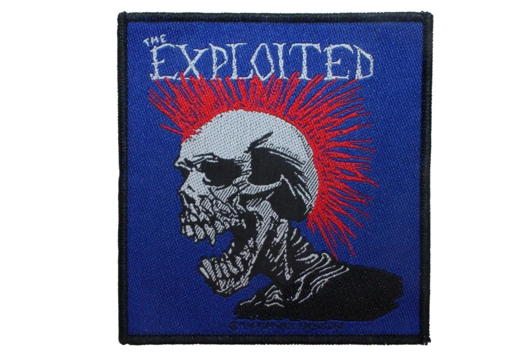 Official Band Merch | The Exploited - Mohican Multicolour Woven Patch