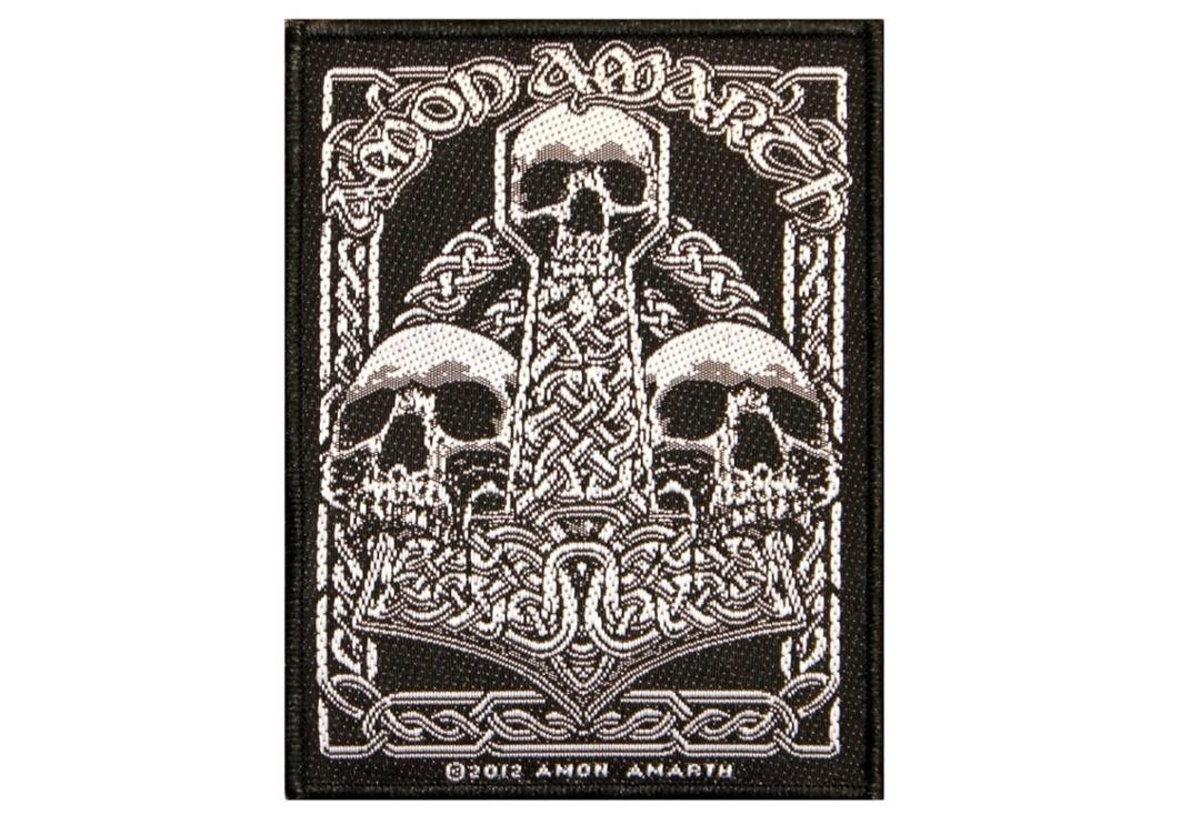 Official Band Merch | Amon AMarth - Three Skulls Woven Patch