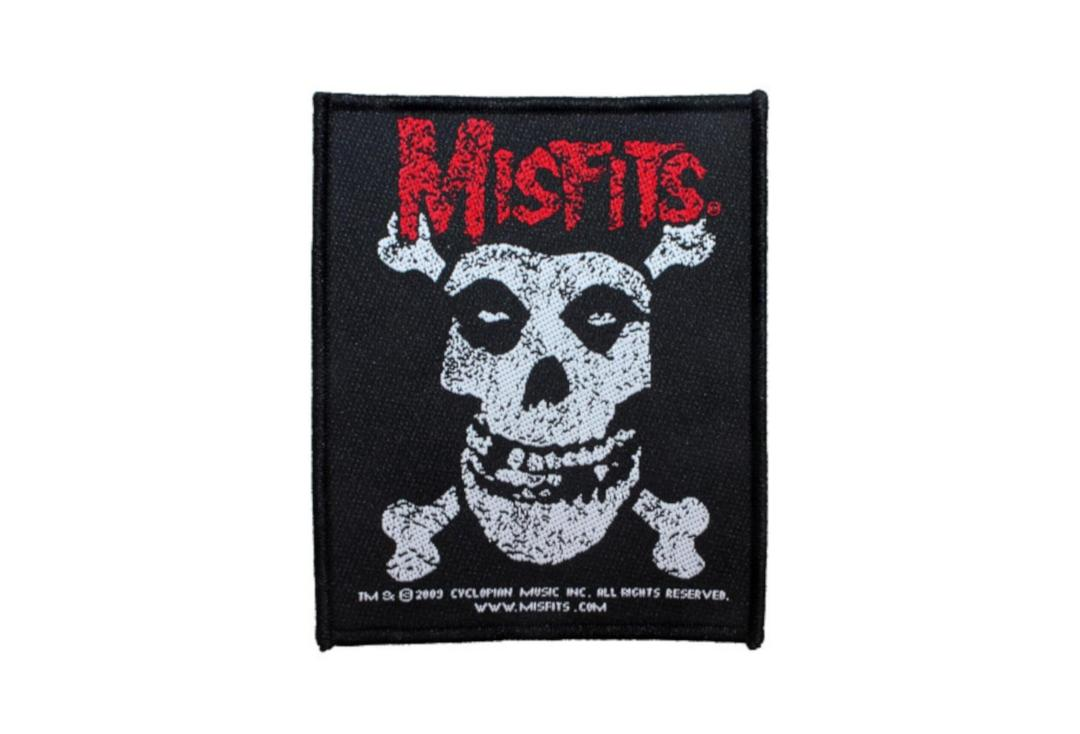 Official Band Merch | Misfits - Skull & Crossbones Woven Patch