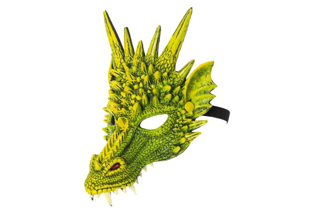 Void | Green Dragon Half Face Mask - Side View
