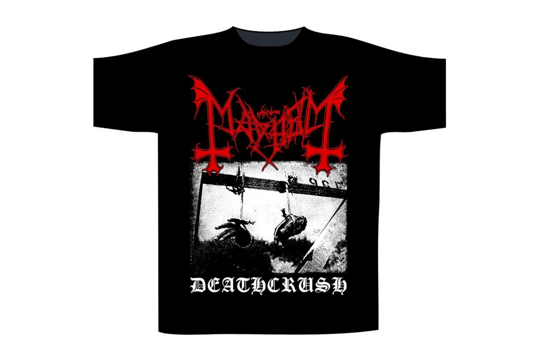 Official Band Merch | Mayhem - Black Deathcrush Men's Short Sleeve T-Shirt - Front View