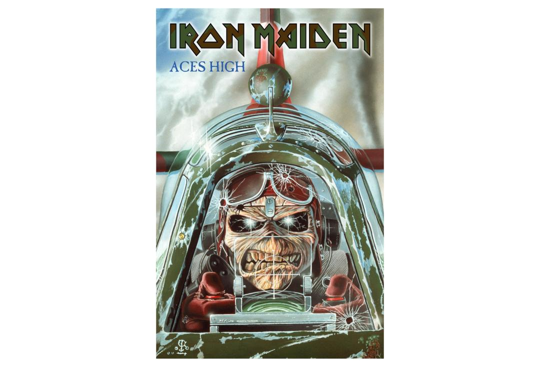 Official Band Merch | Iron Maiden - Aces High Printed Textile Poster