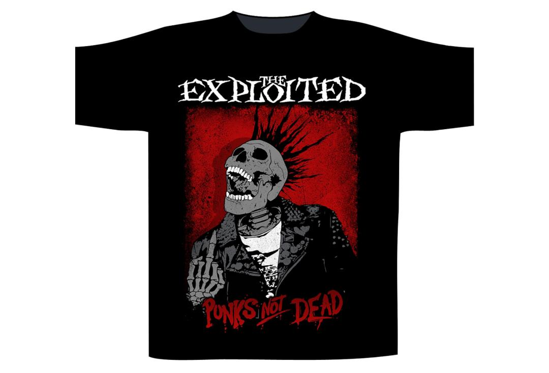 Official Band Merch | The Exploited - Splatter/Punks Not Dead Men's Short Sleeve T-Shirt