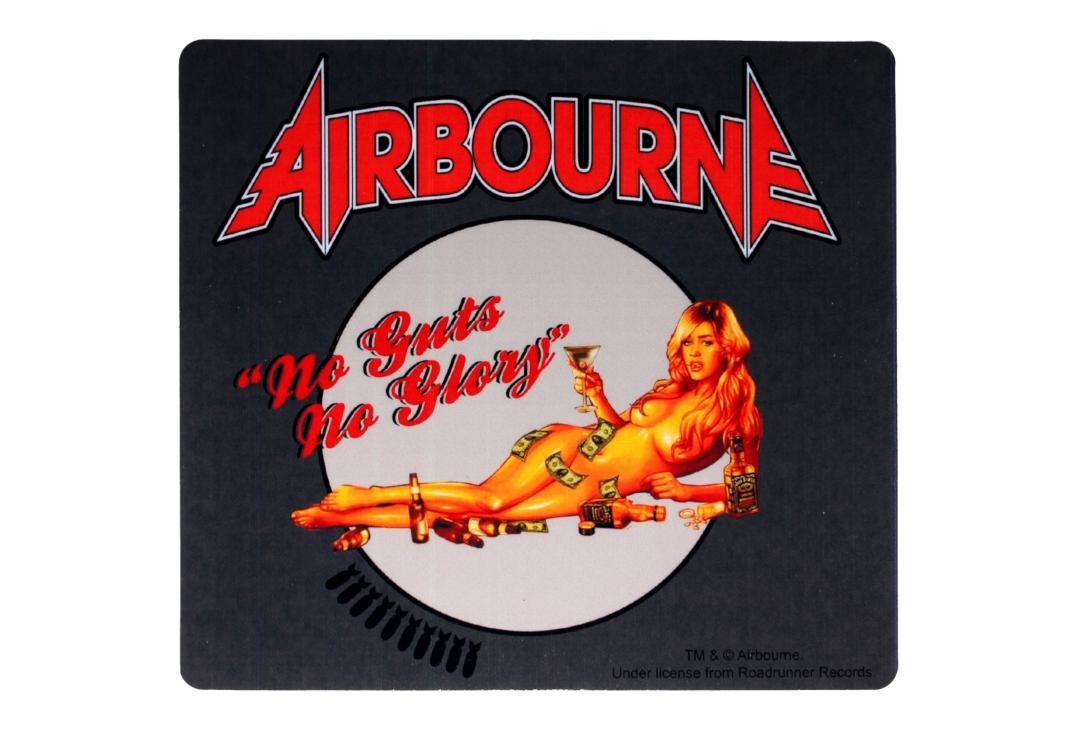 Official Band Merch | Airbourne - No Guts No Glory Vinyl Sticker