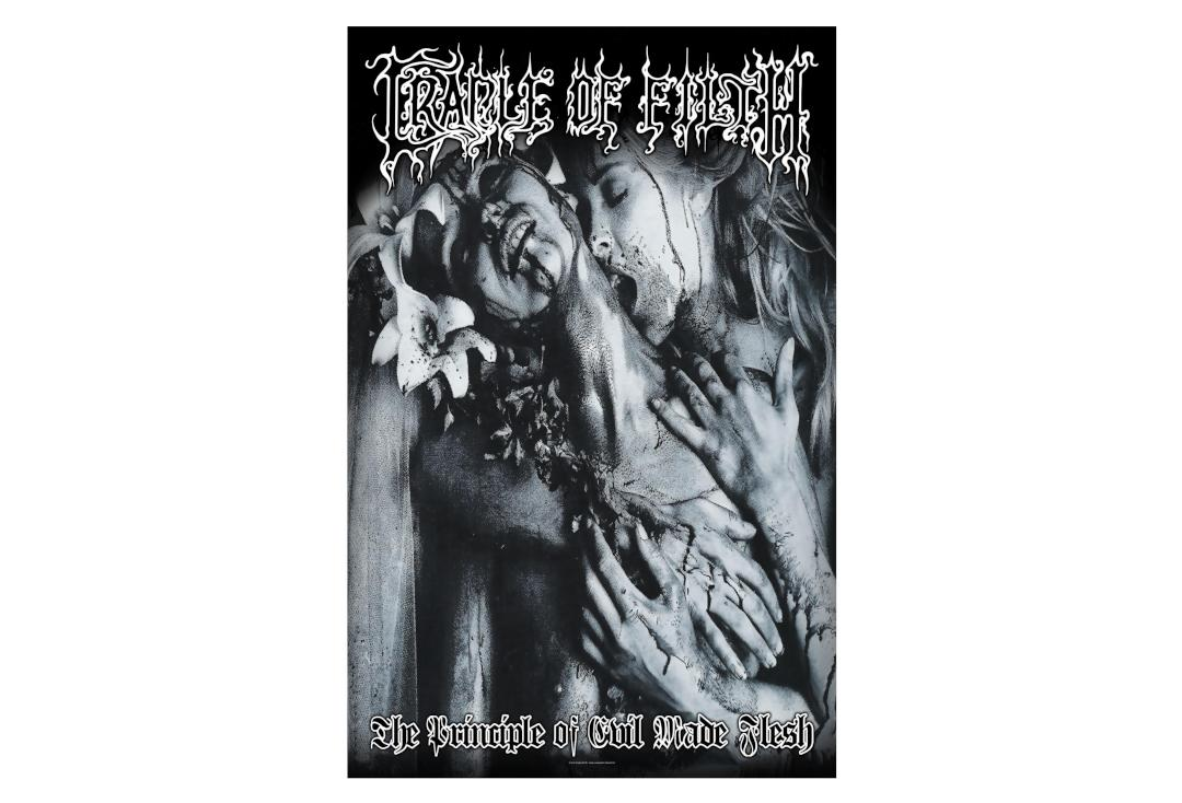 Official Band Merch | Cradle Of Filth - The Principle Of Evil Made Flesh Printed Textile Poster