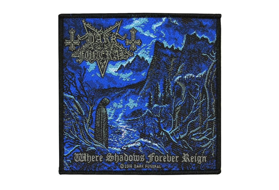 Official Band Merch | Dark Funeral - Where Shadows Forever Reign Woven Patch