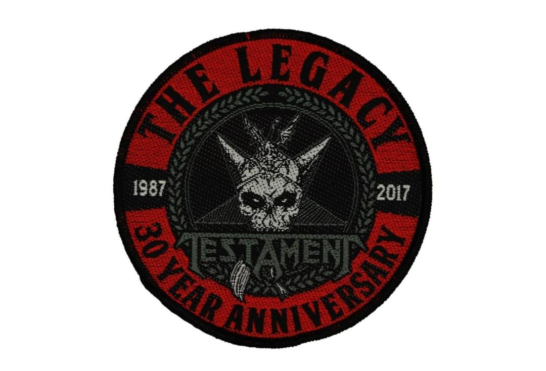 Official Band Merch | Testament - Legacy 30th Anniversary Woven Patch