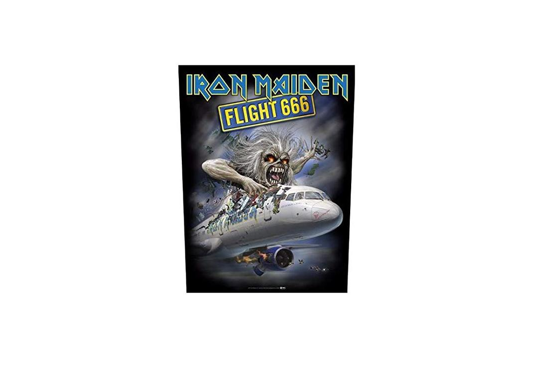 Official Band Merch | Iron Maiden - Flight 666 Printed Back Patch