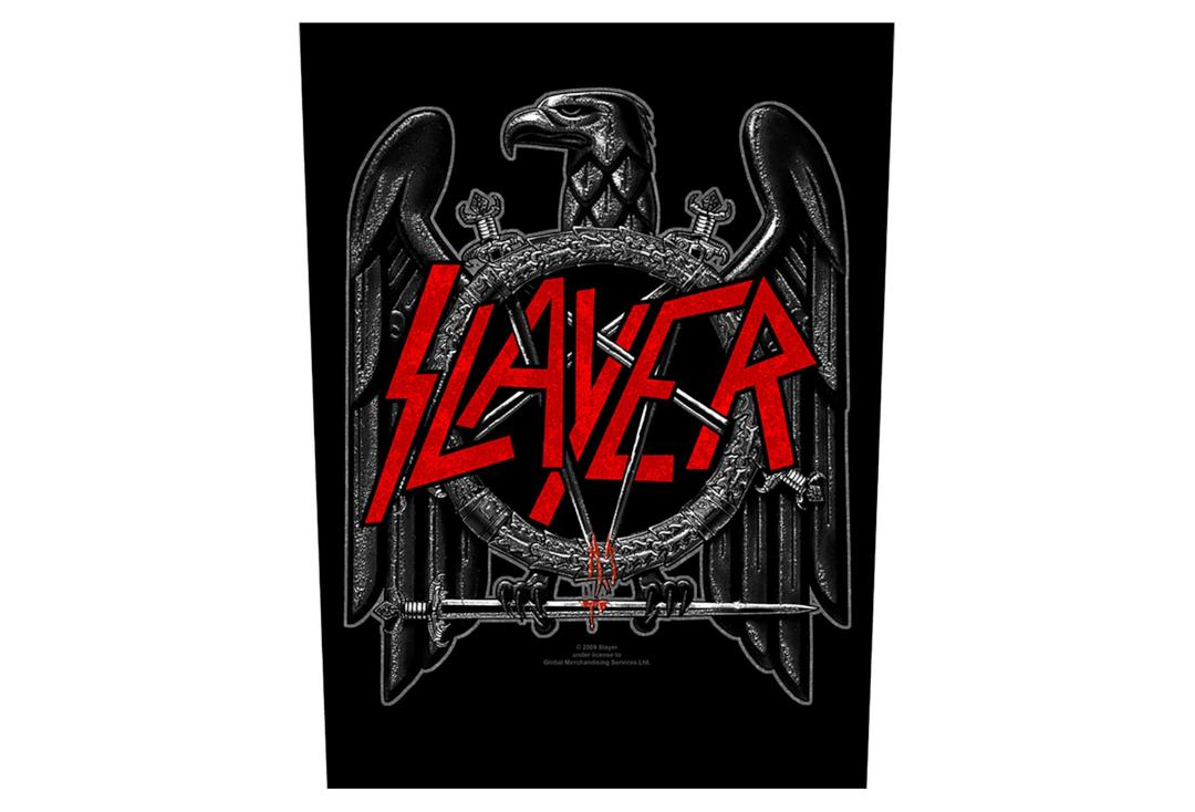 Official Band Merch | Slayer - Black Eagle Printed Back Patch