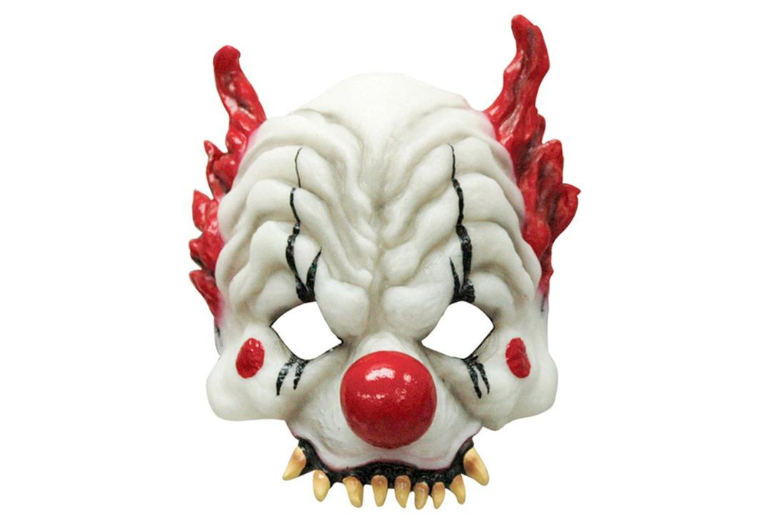 Void Clothing | Glow In The Dark Latex Half Clown Mask