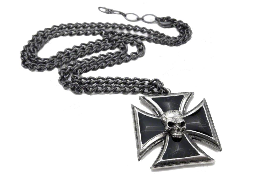 Alchemy Gothic | Black Knights Cross Pendant