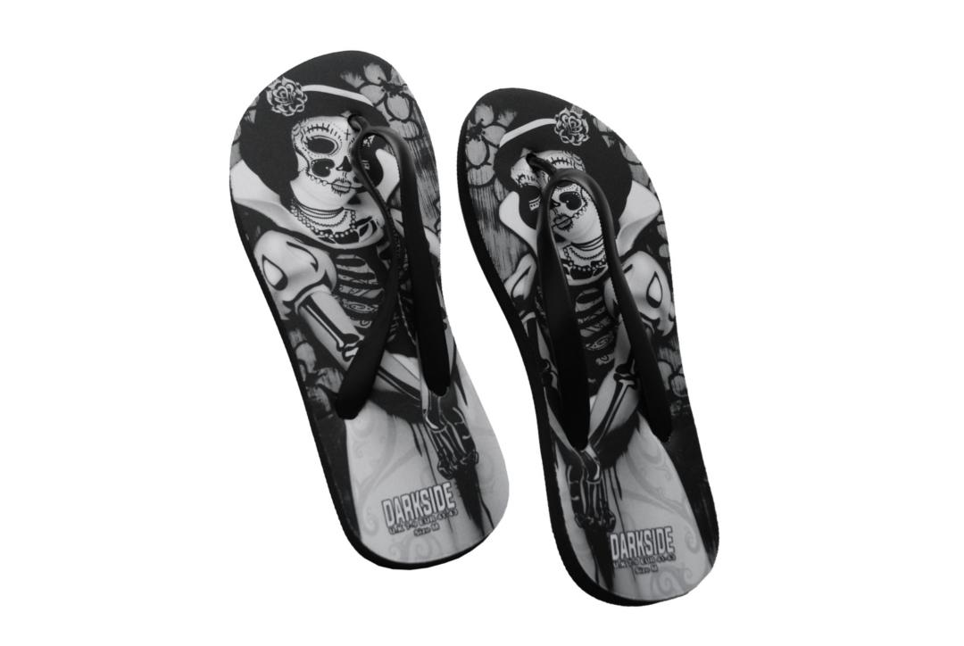 Darkside | Snow White Skele Unisex Flip-Flops