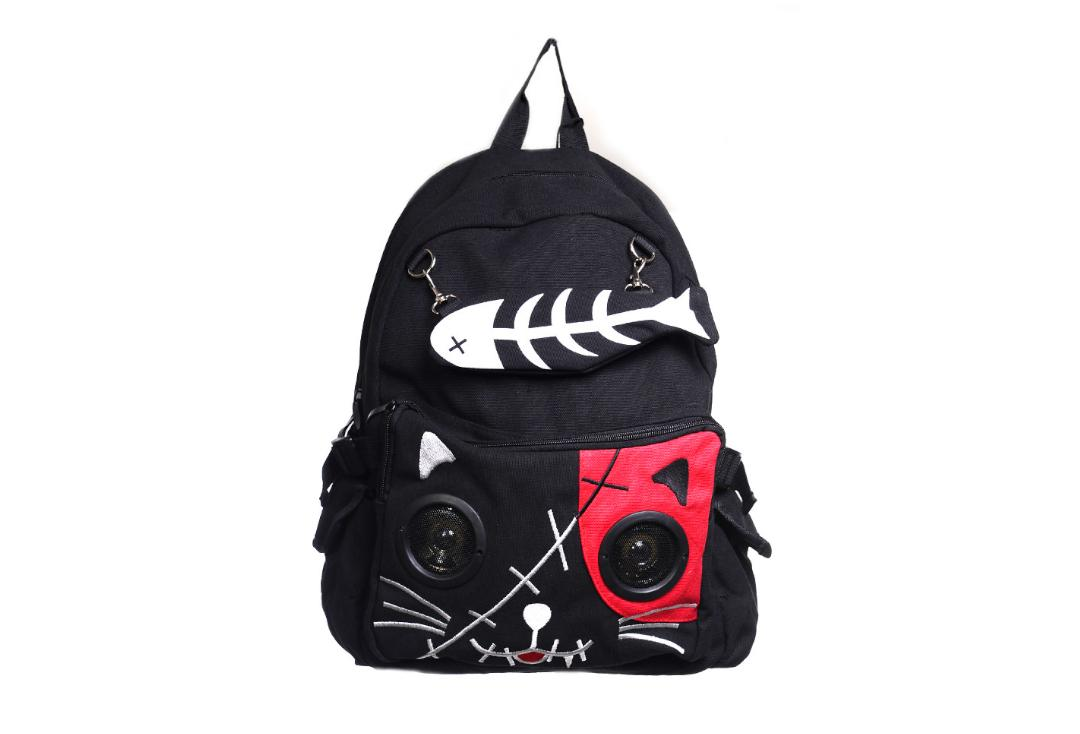 Banned Apparel | Red Kitty Speaker Backpack