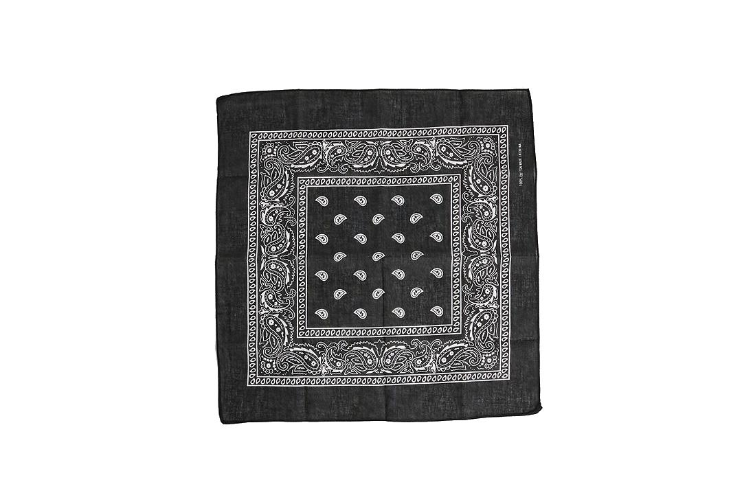Void Clothing | Black With White Paisley Cotton Bandana