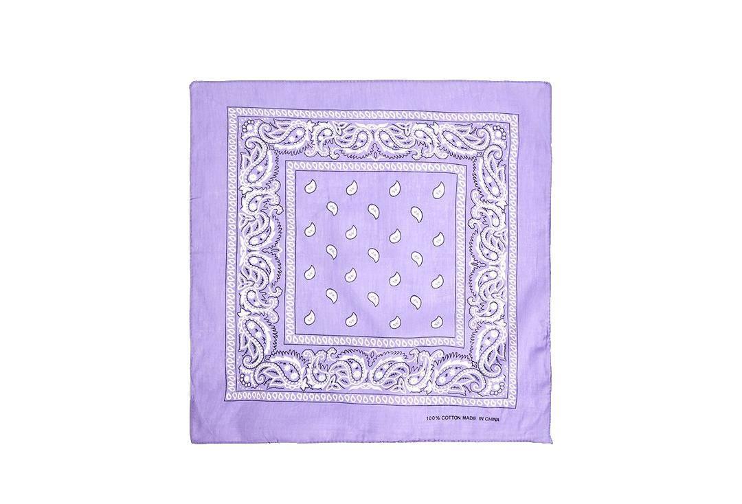 Void Clothing | Lilac Paisley Cotton Bandana