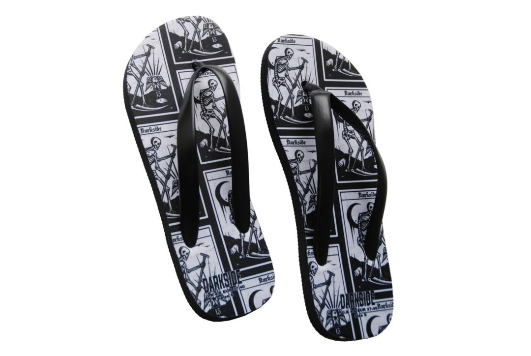 Darkside Clothing | Death Tarot Flips-Flops