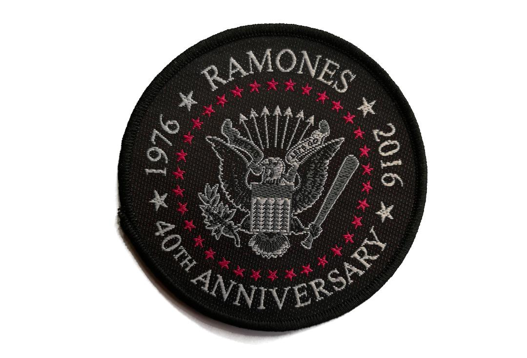 Official Band Merch | Ramones - 40th Anniversary Woven Patch